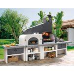 барбекю комплекс с мангалом и русской печью фото