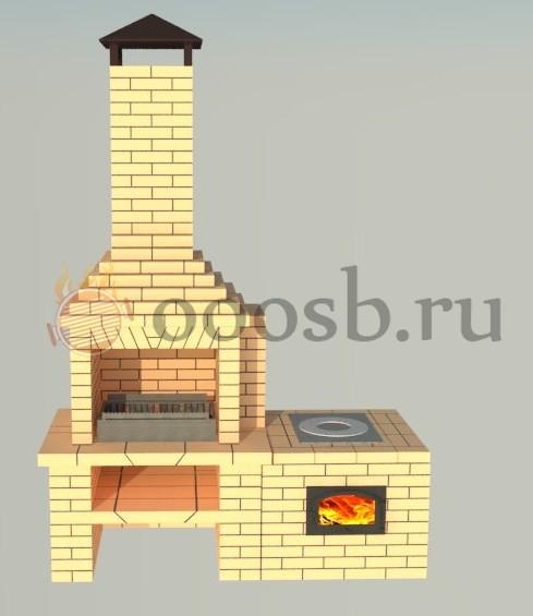 Печь под казан, мангал с жаровней