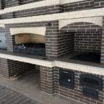 строительство барбекю из кирпича
