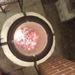 Угли в готовом зрелом тандыре