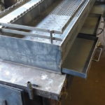 стальная мангальная вставка в барбекю