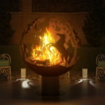 языки пламени в сфере для огня