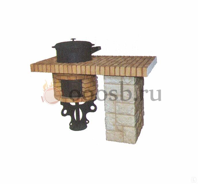 столешница с печью для казана для барбекю комплекса