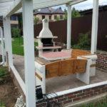 барбекю из бетона с комплектом мебели