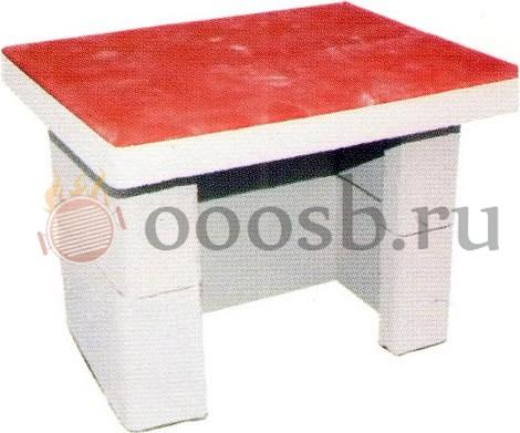 столик без мойки для барбекю из бетона