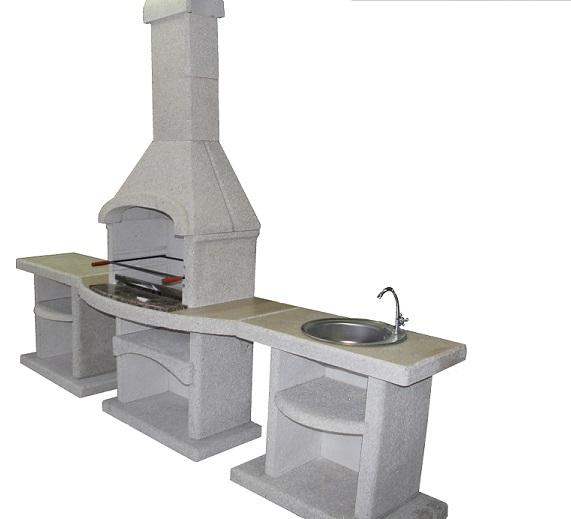 летняя кухня мангал мойка и разделочный стол