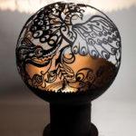 костровая чаша сфера для дачи в виде шара