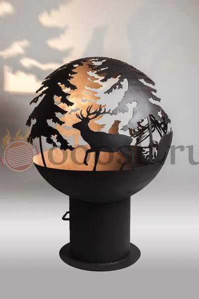 красивая уникальная сфера для разведения огня