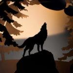 орнамент волк на стальной чаше для костра
