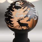 сфера в виде шара из металла для костра