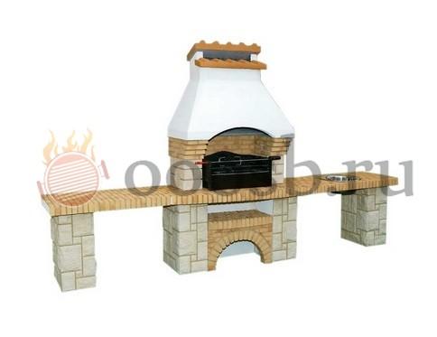 печка барбекю со столешницей