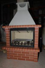 модульный камин из кирпича