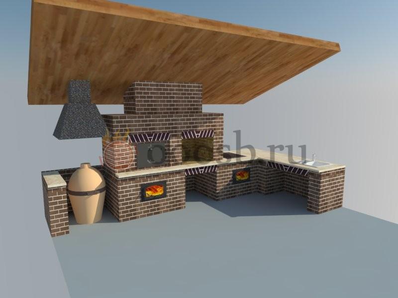 3D-проект барбекю-комплекса