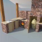 3D-макет печи