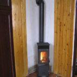 Печь Bozen угловое распложение в дачном доме