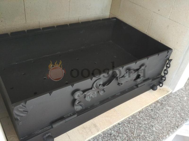 стальная вставка в мангал