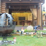 костровая сфера и чаша на даче