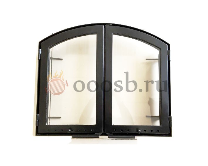 топочная каминная дверца со стеклом