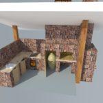 3D-проект печи из кирпича