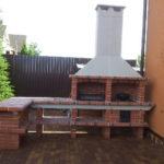 Печь с высоким дымоходом