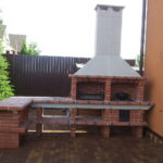 Печь во дворе коттеджа
