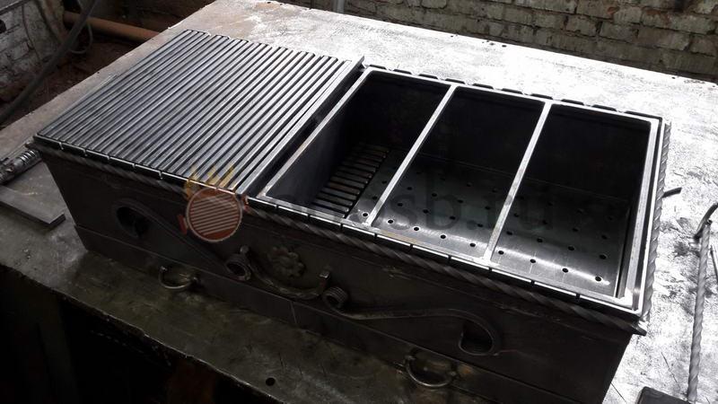 мангал из кирпича с печью под казан