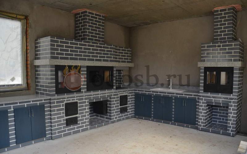 для квартиры и загородного дома барбекю комплекс с мангалом