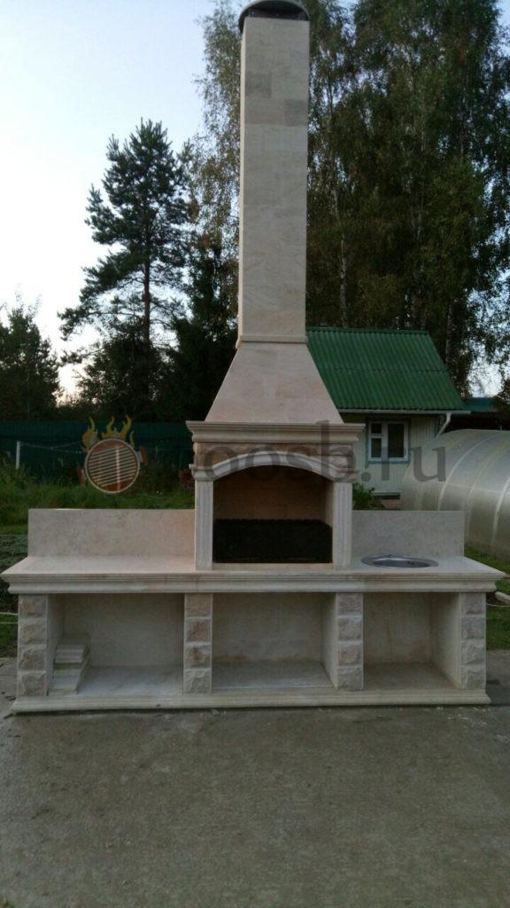 камин барбекю мангал из камня природного летняя кухня