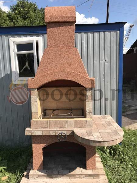 мангал барбекю для дачи из бетона