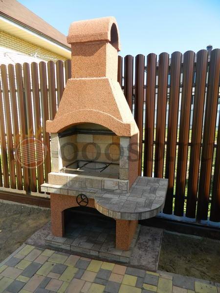 шашлычница бетонная для дачи