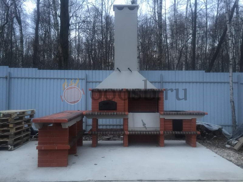 барбекю для дачи с крышей