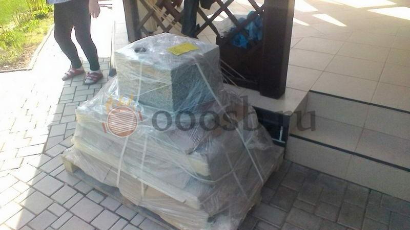 русская печь с мангалом на улице