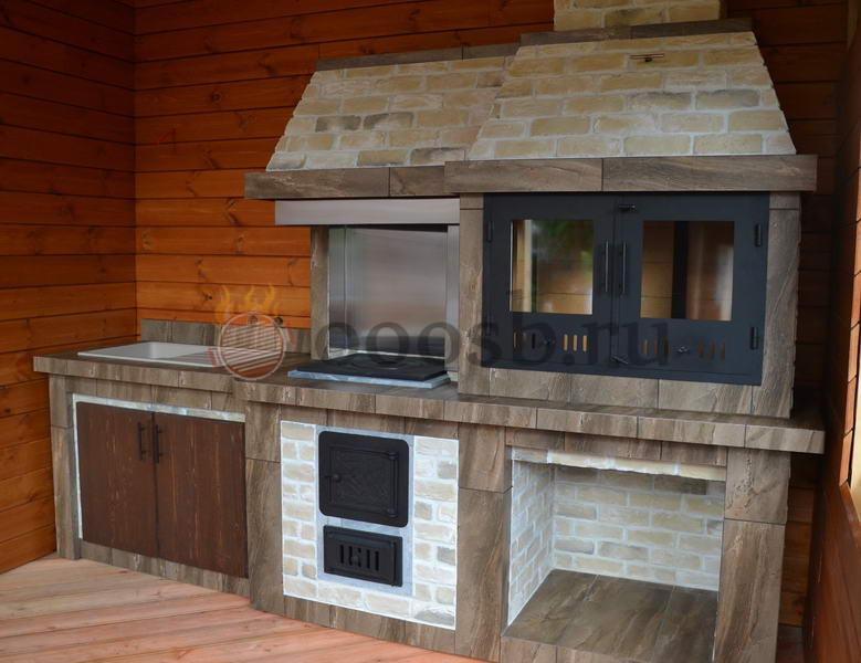 садовые барбекю на дровах